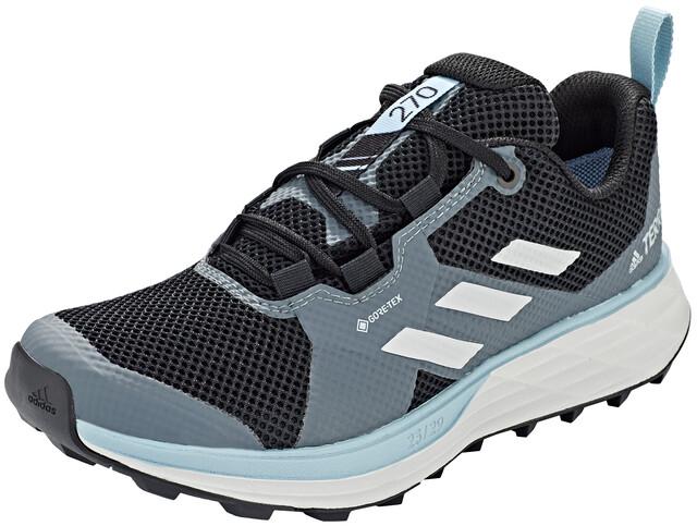 adidas TERREX Two Gore Tex Trail Running Schuhe Damen core blackgrey threeash grey